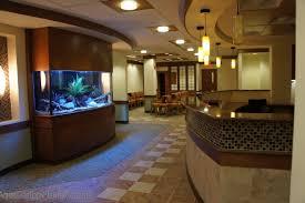 fish tank in medical office aquarium office