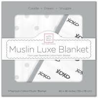 <b>Одеяло</b> муслиновое Swaddledesigns Luxe <b>Muslin</b> Black XOXO ...