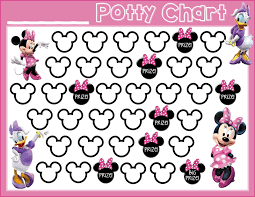 potty training printable minnie mouse daisy duck potty training printable minnie mouse daisy duck printable potty training chart potty training girls potty training motivation more