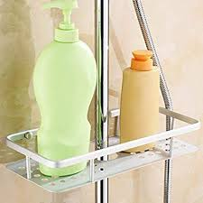 cfxdxayd Wall Mounted <b>Shower Storage</b> Rack <b>Space Aluminum</b> ...