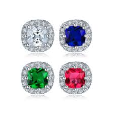 <b>Huitan Classic</b> Engagement <b>Ring</b> with Square Cutting CZ Prong ...