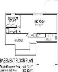 Simple House Floor Plans Bedroom Story   Basement Home Design Bedroom Ranch House plans   Basement Bloomington Evansville Indiana Ft Wayne New Albany