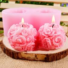 Flexible <b>3D Rose Flower</b> Soft Silicone <b>Soap</b> Candle Molds | Shopee ...