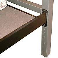 all of our beds have predrilled holes that allow you to choose what height you want to set up your bed amisco newton regular footboard bed queen