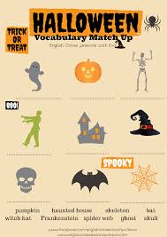 halloween worksheets halloween vocabulary match up