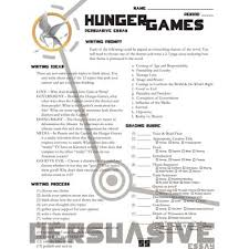 hunger games   persuasive essay  jpghunger games persuasive essay  themes
