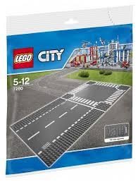 Дополнительные детали <b>LEGO City 7280 Перекресток</b> и прямая ...