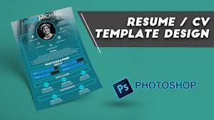 resume cv design photoshop resume cv design photoshop