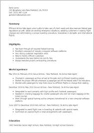 professional airline gate agent templates to showcase your talent    resume templates  airline gate agent