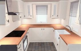 small u shaped kitchen design: image of small apartment shaped kitchen designs