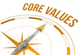 how outperforming leaders make core values work com core values against compass