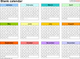 blank calendar printable microsoft word templates template 5 word template for blank calendar landscape orientation 1 page