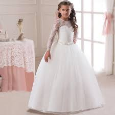 4 14 yrs <b>Romantic</b> Lace <b>Puffy Lace</b> Flower Girl Dress 2018 for ...