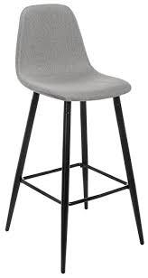 <b>Барный стул Lada</b>, Металл, Ткань, светло-серый — купить в ...