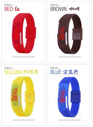 2016 New Fashion Touch Screen <b>LED Bracelet Digital</b> Watches ...