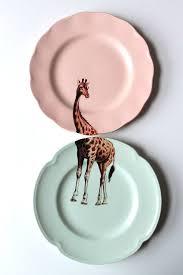 home decor plate x: giraffe plates  giraffe plates