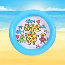 cute animal print round beach