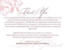 sample thank you cards thank you letter  how