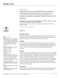 (PDF) Diagnostic accuracy of B-Mode ultrasound and Hepatorenal ...