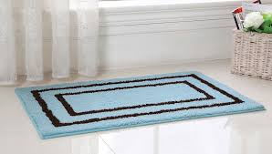 Oversized Bathroom Rugs Accessories Gorgeous Microfiber Blue And Black Around Striped