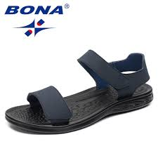 <b>BONA New</b> Arrival Classics <b>Style</b> Men Sandals Hook & Loop Men ...