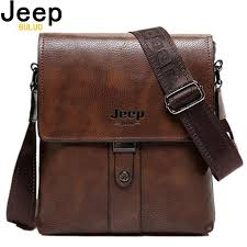 <b>JEEP BULUO Brand Men</b> Bags Cow Split Leather Fashion Male ...