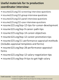 Top   tv production coordinator resume samples         Useful materials for tv