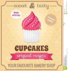 cupcake cafe poster stock vector image  cupcake retro poster royalty stock photo