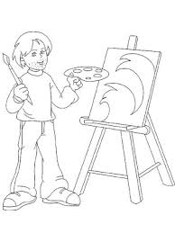 Small Picture Printable 11 Art Coloring Pages 10385 Artist Is Working On