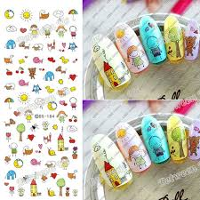 New Water Transfer <b>Nail</b> Art Stickers Water <b>Nail</b> Decals <b>Lovely</b> Kids ...