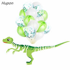 1set <b>Happy</b> Birthday <b>Banners Dinosaur</b> Party Decor Latex <b>Balloons</b> ...