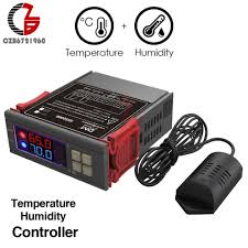 110V 220V 12V <b>LED Digital</b> Temperature <b>Humidity Controller</b> Indoor ...
