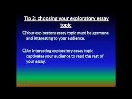 exploratory essay   youtubeexploratory essay