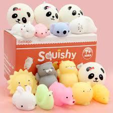 Satkago <b>12PCS</b> Soft Squishy Squeeze <b>Cartoon Animal</b> Toy + 4PCS ...