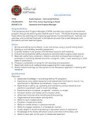 audio engineer cover letter contract position job description audio engineer cover letter contract position job description electrical engineering cover letter no experience sample engineering cover letter for job