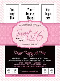 flyer sweet 16 flyer
