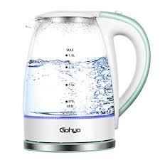 Zeppoli <b>Electric Kettle Fast Boiling</b> Glass Tea Kettle Home & Garden ...