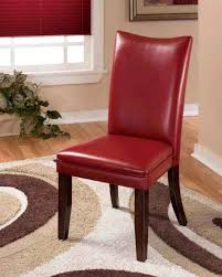 parson chairs red dining table