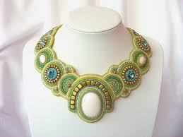 Bead Embroidery <b>necklace</b> spring <b>breeze</b> beaded <b>necklace</b> white ...