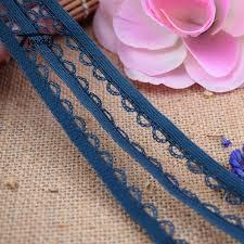 "#1543 Navy Blue Ruffle Lace Fabric <b>8 yards</b>/<b>lot</b> 10MM(3/8"") Elastic ..."