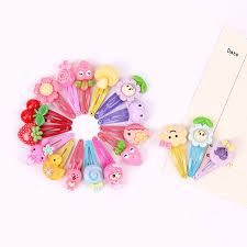 <b>10PCS Mix Color</b> Styles Flower Cartoon Hairpins <b>Barrettes</b> Lovely ...