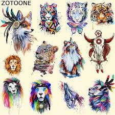 <b>ZOTOONE</b> Iron On Patches <b>Colorful Fox</b> Patch T shirt Dress Sweater ...