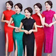 2019 Female <b>Elegant Cheongsam Retro Improved</b> Slim Long <b>Qipao</b> ...