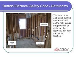 code bathroom wiring:  ontario electrical safety code bathrooms