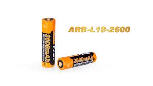 Литий ионный <b>аккумулятор Fenix</b> ARB L18 <b>2600</b>, 1 шт., 3,6 В ...
