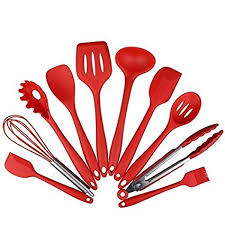 10 Piece <b>Silicone Kitchen Utensils</b> Set - Spatulas, Spoons and ...