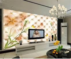 online get cheap fantasy wall papers com alibaba group 3d custom photo wall paper fantasy lily flowers 3 d soft package