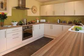 Walnut Floor Kitchen Kitchen Design Walnut Worktop Shaker Cream Gloss Ideas