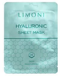 <b>Тканевая маска</b> Limoni <b>Hyaluronic</b> с <b>гиалуроновой</b> кислотой ...