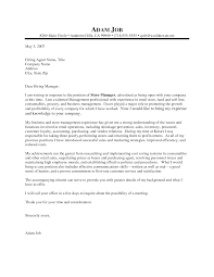 cover letters for retail jobs  seangarrette co   retail management cover letter example